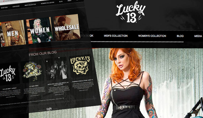 Lucky 13 Apparel Magento Build